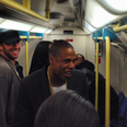 Jay Z and Chris Martin on the Tube