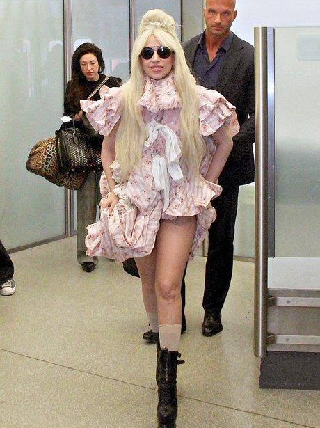 Lady Gaga at the airport