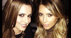 Cheryl Cole and Kim Kardashian