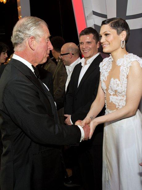 Jessie J with Prince Charles