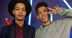 Rizzle Kicks backstage Jingle Bell Ball