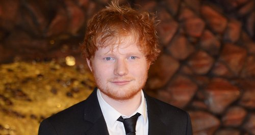Ed Sheeran attends the Hobbit premiere