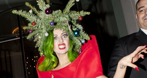 Lady Gaga Wears Christmas Tree Outfit While Leaving Jingle Bell  - Lady Gaga Christmas Tree Youtube