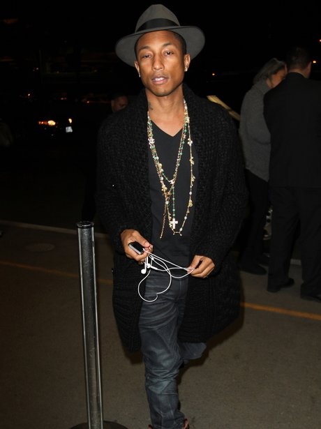 Pharrell at the airport