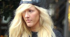 Ellie Goulding wearing pyjama trousers