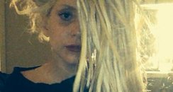 Lady Gaga with white dreadlocks