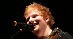 Ed Sheeran performing for Teenage cancer Trust