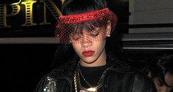 Rihanna wearing a headband