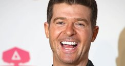 Robin Thicke laughing