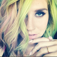 Kesha with rainbow hair
