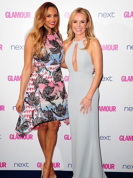 Amanda Holden and Alesha Dixon Glamour Women Of Th