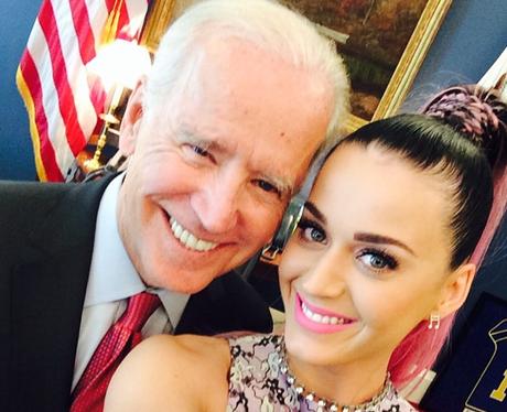Katy Perry and Joe Biden