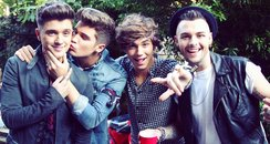 Union J on the set of 'Tonight' music video