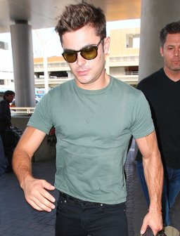 Zac Efron seen walking through LAX