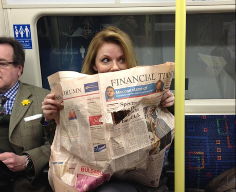 Geri Halliwell catching the tube