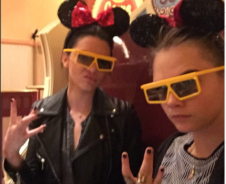 Ariana Grande and Kendall Jenner Mickey Mouse