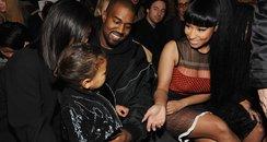 Kim Kardashian, North West, Kanye West and Nicki