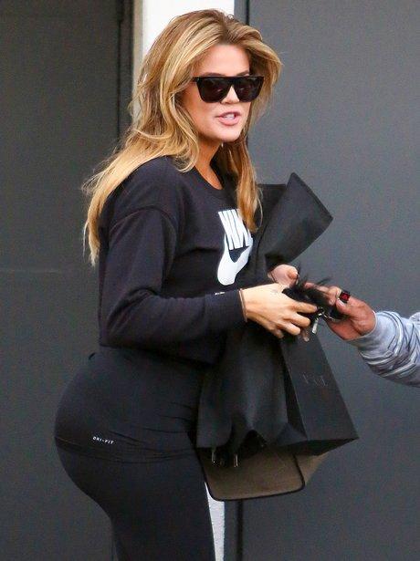 Khloe Kardashian with blond hair