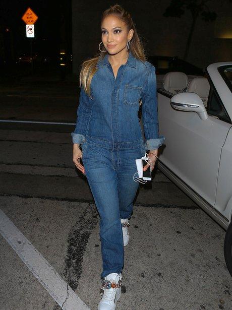 Jennifer Lopez Denim Jumpsuit
