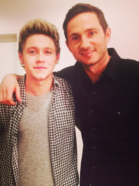 Niall Horan and Frank Lampard