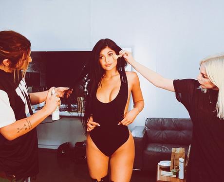 Kylie Jenner wearing a swimsuit