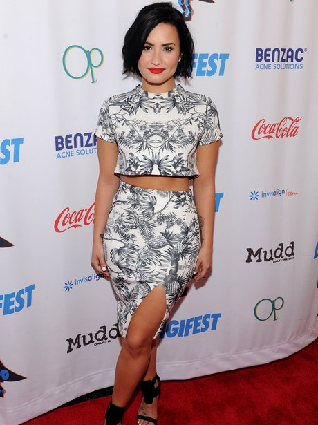 Demi Lovato wearing a Co Ord