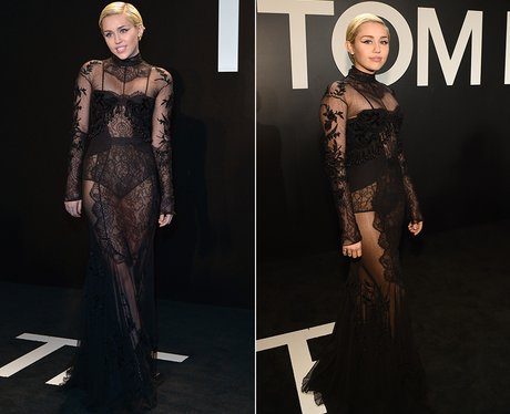Miley Cyrus Sheer Dress