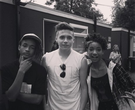 Brooklyn Beckham with Jayden and Willow Smith