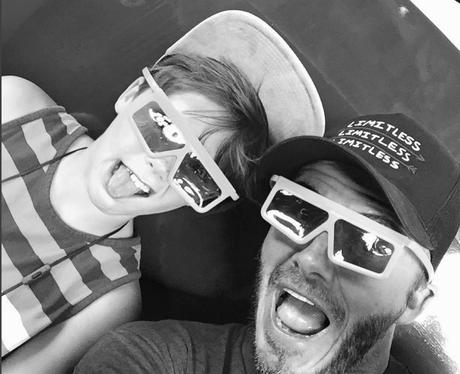 David Beckham and Cruz Selfie