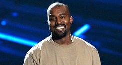 Kanye West live on stage at the MTV VMAs 2015