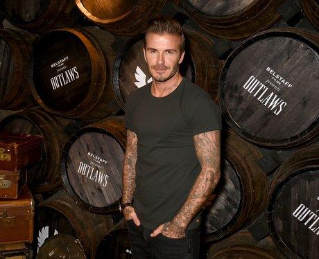 David Beckham at film premiere