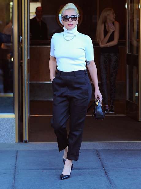 Lady Gaga Monochrome Outfit