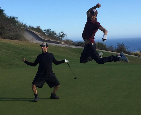 Enrique Iglesias goes for a round of golf