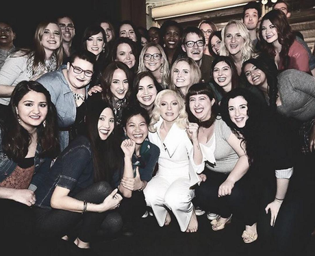 Lady Gaga with her monsters