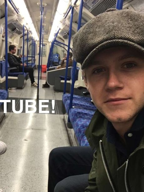 Niall Horan rides the tube