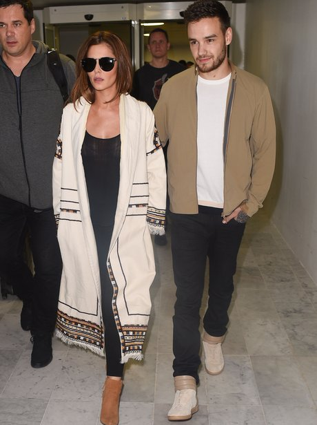 Liam Payne and Cheryl arrive in Paris